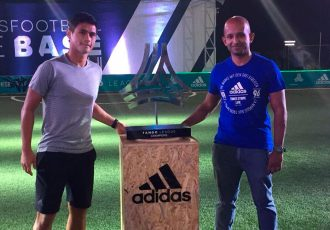 Indian international Eugeneson Lyngdoh at the adidas Tango League India launch (Photo courtesy: adidas)