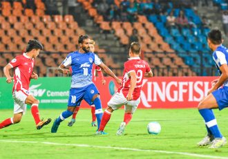 Bengaluru FC defender Harmanjot Singh Khabra in action (Photo courtesy: Bengaluru FC)