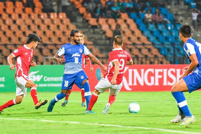 Bengaluru FC defender Harmanjot Singh Khabra in action (Photo courtesy: Bengaluru FC)