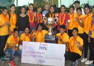 Indian Women's League champions Rising Students Club return to Odisha (Photo courtesy: Football Association of Odisha)