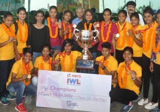 Indian Women's League champions Rising Students Club return to Odisha (Photo courtesy: Football Association of Odisha)