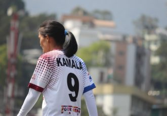 Eastern Sporting Union star Kamala Devi during an Indian Women's League (IWL) encounter. (Photo courtesy: AIFF Media)