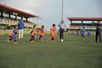 German Consul General Dr. Michael Feiner visits Mizoram FA Grassroots Programme (Photo courtesy: Mizoram Football Association)
