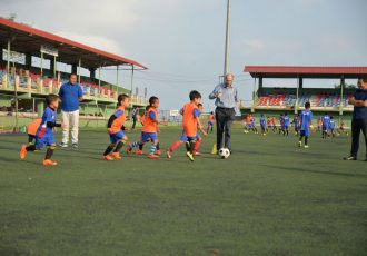 German Consul General Dr. Michael Feiner visits Mizoram FA Grassroots Programme (Photo courtesy: Mizoram Football Association)