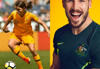 Australia's new kit honors footballing pioneers (Photo courtesy: Nike)