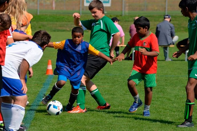 UEFA Foundation for Children and Swiss FA pledge support for PluSport (Photo courtesy: UEFA)