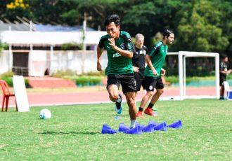 Bengaluru FC striker Udanta Singh in training at the Kalinga Stadium facilities, in Bhubaneshwar. (Photo courtesy: Bengaluru FC)
