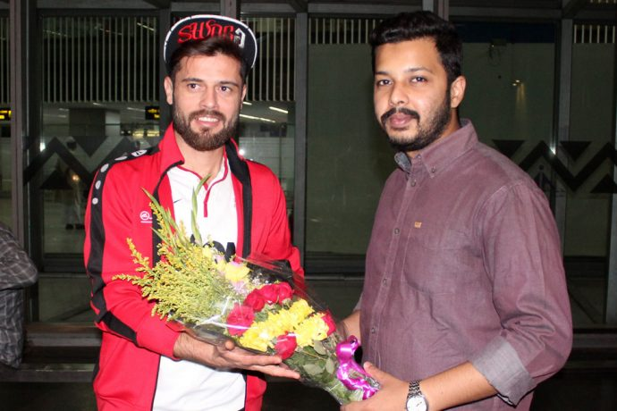 Mohammedan Sporting new Syrian signing Wael Ayan arrives in Kolkata (Photo courtesy: Mohammedan Sporting Club)