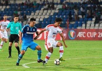 AFC Cup match action during Bengaluru FC's 1-0 win over New Radiant SC, at the Sree Kanteerava Stadium, in Bengaluru. (Photo courtesy: Bengaluru FC)
