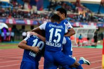 Bengaluru FC players celebrating a goal. (Photo courtesy: Bengaluru FC)