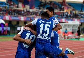 Bengaluru FC players celebrating a goal. (Photo courtesy: Bengaluru FC)
