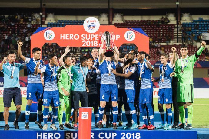 Bengaluru FC players celebrating their 2018 Hero Super Cup win. (Photo courtesy: Bengaluru FC)