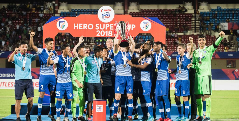 Bengaluru FC players celebrating their 2018 Hero Super Cup win. (Photo courtesy: Bengaluru FC)