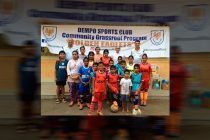 Dempo SC organise Grassroots Programme at ASRO Community Care Centre (Photo courtesy: Dempo SC)