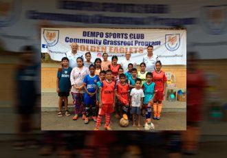 Dempo SC organise Grassroots Programme at ASRO Community Care Centre (Photo courtesy: Dempo SC)