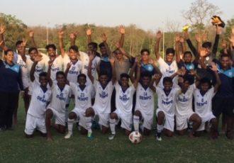 Dempo SC U-18 team celebrating their 2017-18 GFA U-18 League title. (Photo courtesy: Dempo SC)