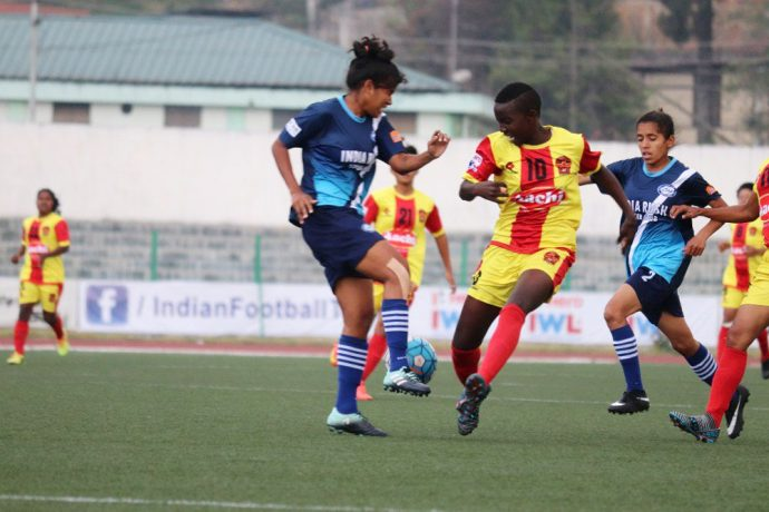 Gokulam Kerala FC held to a goalless draw by India Rush SC in the Indian Women's League (Photo courtesy: AIFF Media)