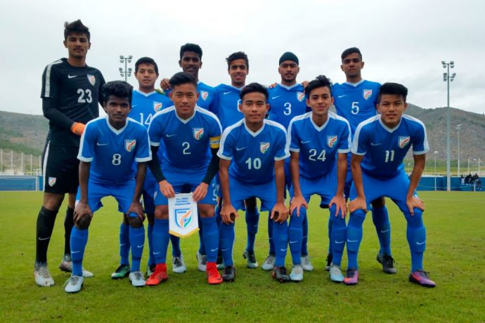 India U-16 national team at the 2018 SportChain Cup in Spain. (Photo courtesy: AIFF Media)