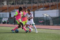 Match action during the Indian Women's League (IWL) semifinal Eastern Sporting Union vs SETHU FC. (Photo courtesy: AIFF Media)