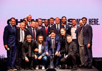 Football legends gathered in Miami to announce the official 2018 International Champions Cup presented by Heinekin. Matches will be scheduled between July 20 and August 12, featuring many of the world's top players. (Photo courtesy: PRNewsfoto/RELEVENT)