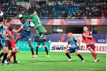 Sanjiban's heroics help Jamshedpur FC to down Minerva Punjab and to advance to Super Cup quarters. (Photo courtesy: AIFF Media)