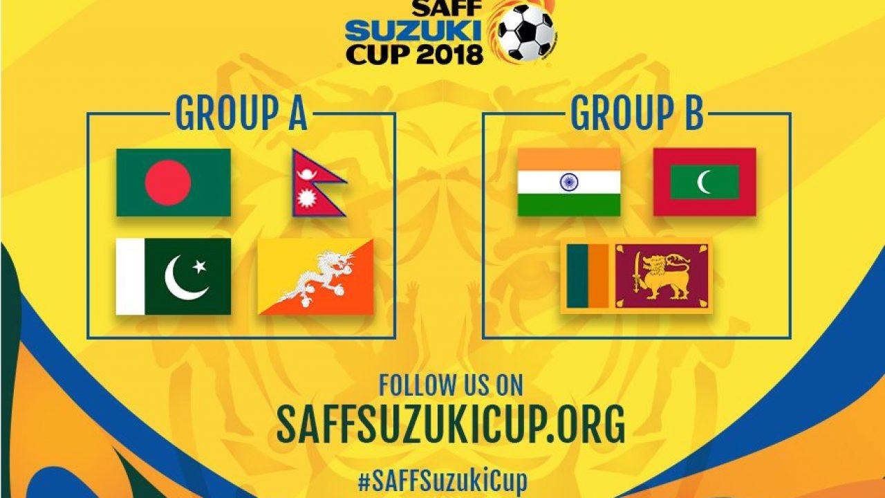 India to face the Maldives & Sri Lanka in 2018 SAFF Cup