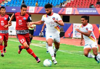 FC Goa storm into Hero Super Cup semis with a 5-1 win against Jamshedpu FC. (Photo courtesy: AIFF Media)