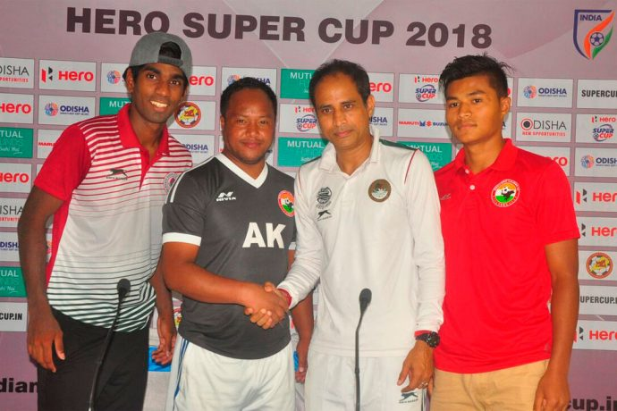 Pre-match press conference ahead of the Hero Sup Cup 2018 match Shillong Lajong FC vs Mohun Bagan AC (Photo courtesy: Shillong Lajong FC)