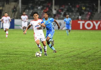 Bengaluru FC skipper Sunil Chhetri in action against Abahani Dhaka in an AFC Cup encounter at the Bangabandhu National Stadium, in Bangladesh. (Photo courtesy: Bengaluru FC)