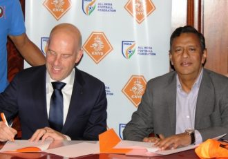 All India Football Federation signs MOU with KNVB. (Photo courtesy: AIFF Media)