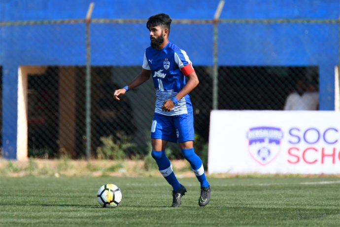 Bengaluru FC 'B' skipper Myron Mendes in action in the Second Division League. (Photo courtesy: Bengaluru FC)