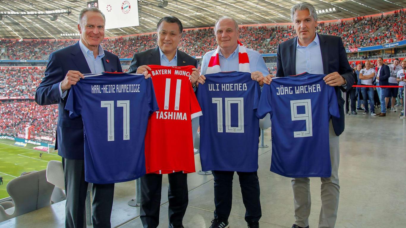 bf3da536489 ... Japan Football Association forge partnership. Karl-Heinz Rummenigge  (CEO