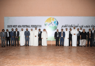 The founding members of the new South West Asian Football Federation (SWAFF).