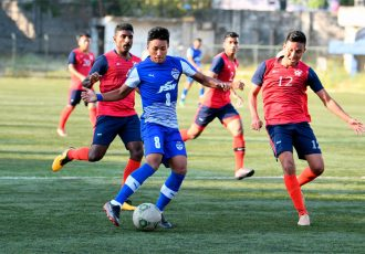 Bengaluru FC 'B' midfielder Lalengzama Vangchhia in action (Photo courtesy: Bengaluru FC)
