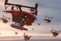 """Budweiser's """"Light Up the FIFA World Cup"""" campaign highlights the most ambitious beer and energy delivery ever, as drones carry Budweiser from the St. Louis Brewery to viewing parties around the world and the Luzhniki Stadium in Moscow. (Photo courtesy: Budweiser)"""