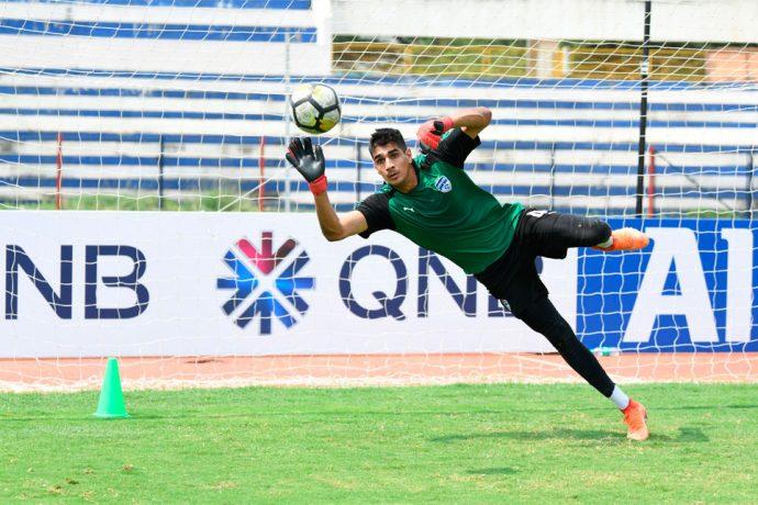 Bengaluru FC goalkeeper Gurpreet Singh Sandhu in training at the Kanteerava Stadium, in Bengaluru. (Photo courtesy: Bengaluru FC)