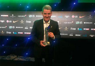 Chennaiyin FC's John Gregory honoured at England's League Managers Association Annual Awards (Photo courtesy: Chennaiyin FC)