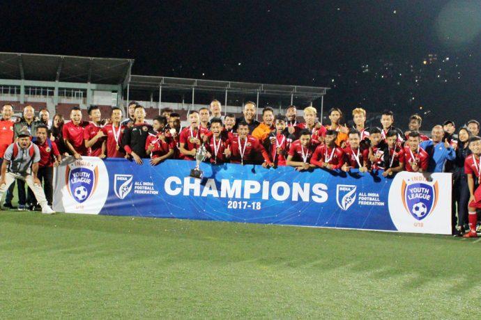 Shillong Lajong FC crowned U-18 Youth League champions. (Photo courtesy: Shillong Lajong FC)