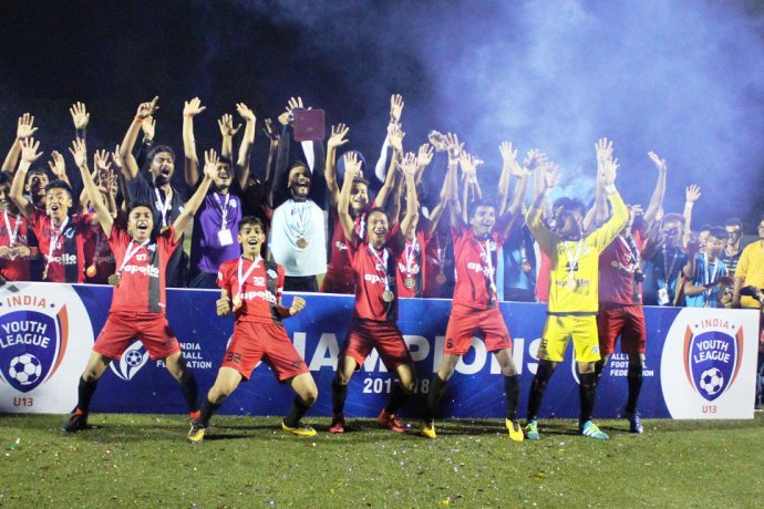 Minerva Punjab FC are the U-13 Youth League champions (Photo courtesy: AIFF Media)