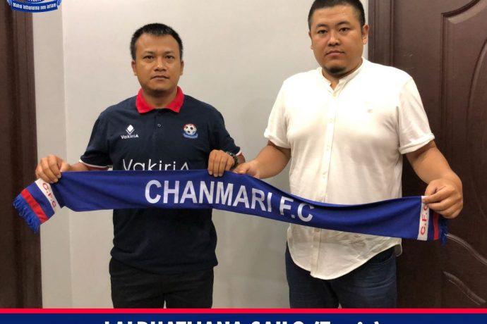 Chanmari FC name Lalruatliana Sailo (Tawia) as their new head coach (Photo courtesy: Chanmari FC)