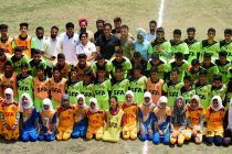 Director of TATA Sports Excellence Centre visits Kashmir. (Photo courtesy: State Football Academy J&K)
