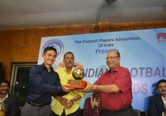 The FPAI Indian Football Awards 2018 handed out to Sunil Chhetri and other Indian football starts in Kolkata. (Photo courtesy: FPAI)