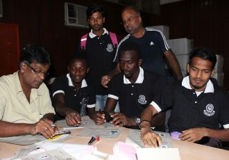Mohammedan Sporting Club register nine more players at IFA office. (Photo courtesy: Mohammedan Sporting Club)