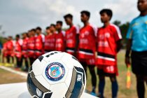 Jamshedpur FC make their presence felt at the JSA Super Division launch. (Photo courtesy: Jamshedpur FC)