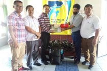 The Mizoram Football Association (MFA) received first aid kits from Excelsior Merchants (P) Ltd, Kolkata on June 26. (Photo courtesy: Mizoram Football Association)
