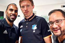 Chris Punnakkattu Daniel (CPD Football), Julian Nagelsmann (TSG 1899 Hoffenheim) and Arunava Chaudhuri (arunfoot).