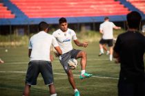 Rino Anto in training with Bengaluru FC. (Photo courtesy: Bengaluru FC)
