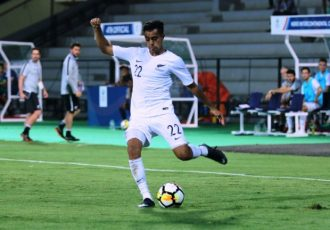 New Zealand's Sarpreet Singh in action at the Hero Intercontinental Cup in Mumbai, India. (Photo courtesy: AIFF Media)