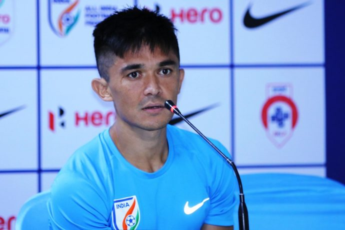 Indian national team captain Sunil Chhetri (Photo courtesy: AIFF Media)