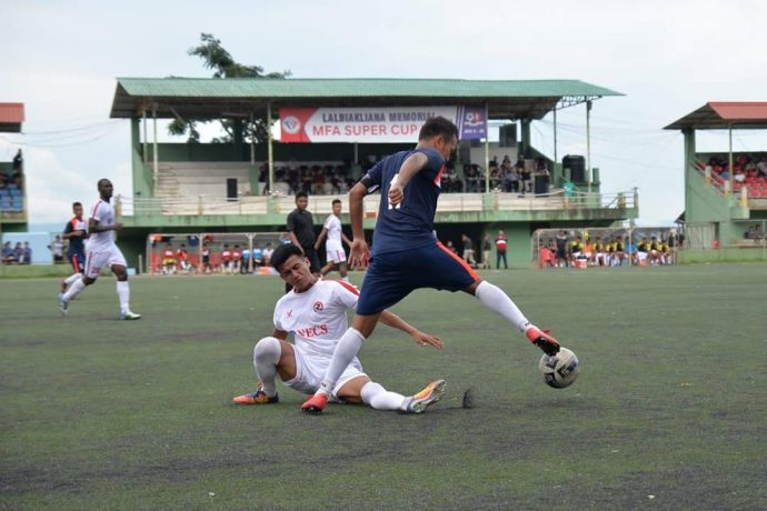 Chanmari FC defeat Aizawl FC to seal a place in the Lalbiakliana Memorial MFA Super Cup 2018 final. (Photo courtesy: Mizoram Football Association)
